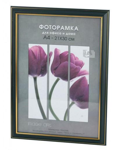 Фоторамка Interior Office 289/209, 10х15 см, пластик черный