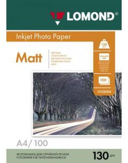 Бумага Lomond (0102004), 130г/м2, A4, матовая двусторонняя, 100 листов