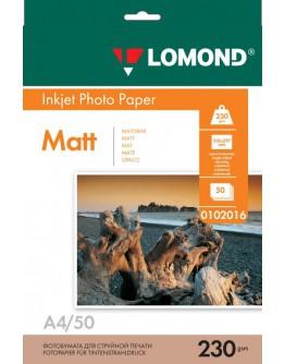 Бумага Lomond (0102016), 230 г/м2, A4, матовая односторонняя, 50 листов