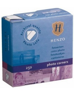 Фотоуголки Henzo 18308 для крепления фотографий в фотоальбомы, 250 шт, белые