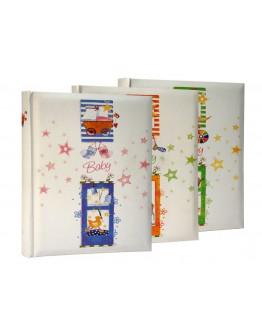 Фотоальбом MPA 32178, 100 страниц 24х32 см, черные листы с пергаментом, наклейка на уголки или стикеры, детский