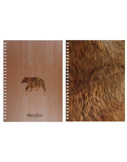 "Блокнот из фанеры ""Медведь"" 15x20"