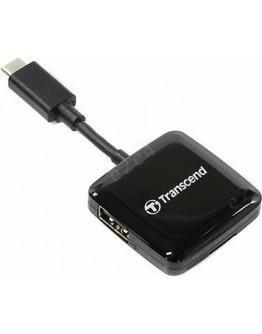 Картридер Transcend TS-RDC2K USB Type-C для SD/MicroSD+USB-A
