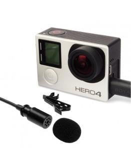 Микрофон Fujimi BY-GM10, петличный для GoPro HERO4, 3+, 3 (и аналогов)