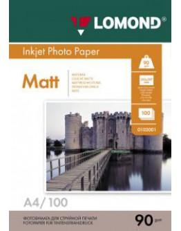 Бумага Lomond (0102001), 90 г/м2, A4, матовая односторонняя, 100 листов