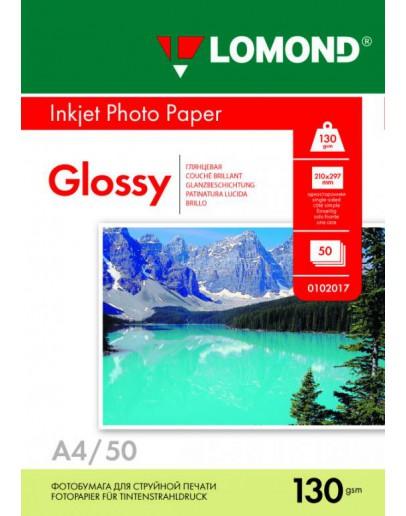 Бумага Lomond (0102017), 130 г/м2, A4, глянцевая односторонняя, 50 листов