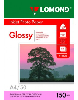 Бумага Lomond (0102018), 150 г/м2, A4, глянцевая односторонняя, 50 листов