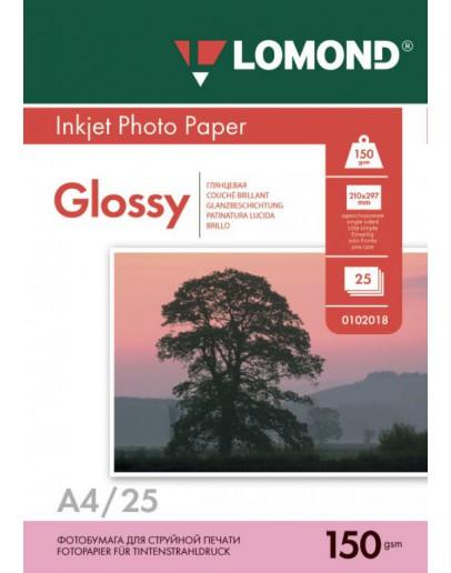 Бумага Lomond (0102043), 150 г/м2, А4, глянцевая односторонняя, 25 листов