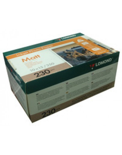 Бумага Lomond (0102157), 230 г/м2, 10х15 см, матовая односторонняя, 250 листов