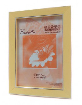 Фоторамка Фотолэнд 0256-14, 15х20 см пластик, желтый