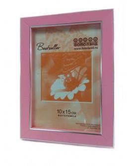 Фоторамка Фотолэнд 0256-55, 15х20 см пластик, розовый