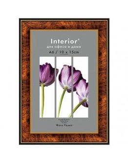 Фоторамка Interior Office 282/104, 10х15 см, пластик темный орех