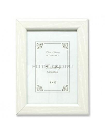 Фоторамка Фотолэнд МК6-01, 9х13 см, МДФ, белый