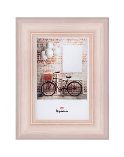 Hofmann рамка  458, 10х15 см, дерево, розовая патинированная
