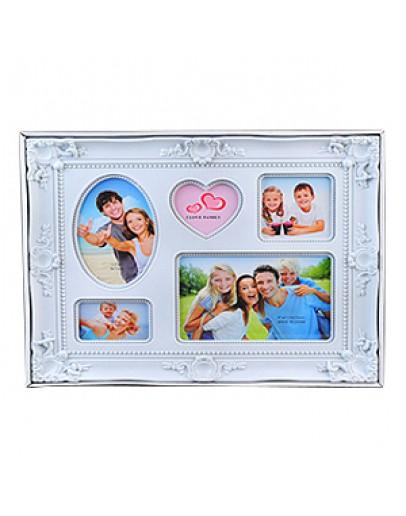 Мультирамка Image Art PL04-5 на 5 фото разного формата, белый