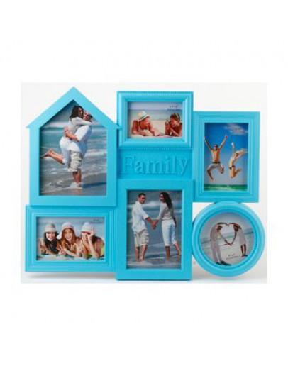 Мультирамка Image Art PL50-6, 6 фото 10х15 см, пластик,
