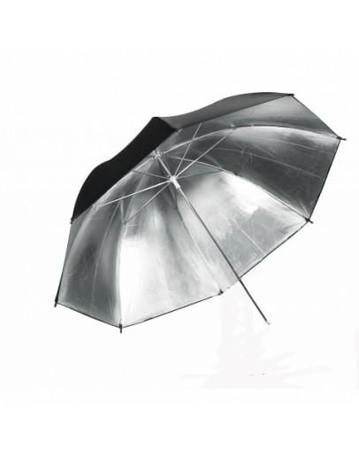 Зонт Grifon S-101 серебрянный на отражение (101-122 см)